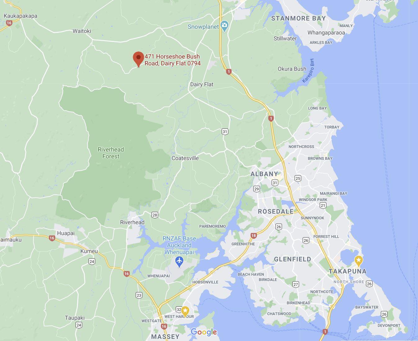 Auckland Equestrian Centre map